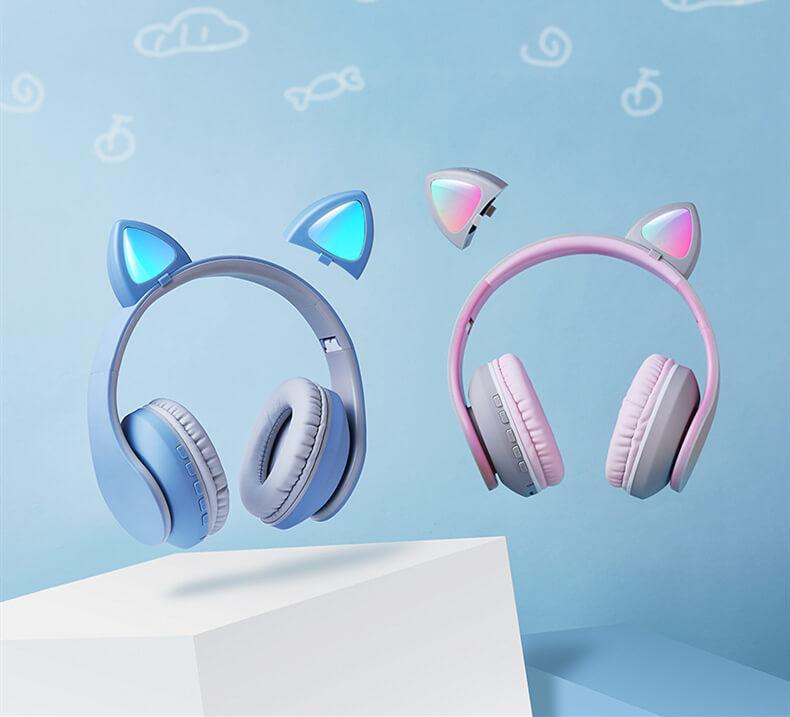 Hermosos audífonos de gatito